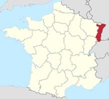 эльзас на карте франции